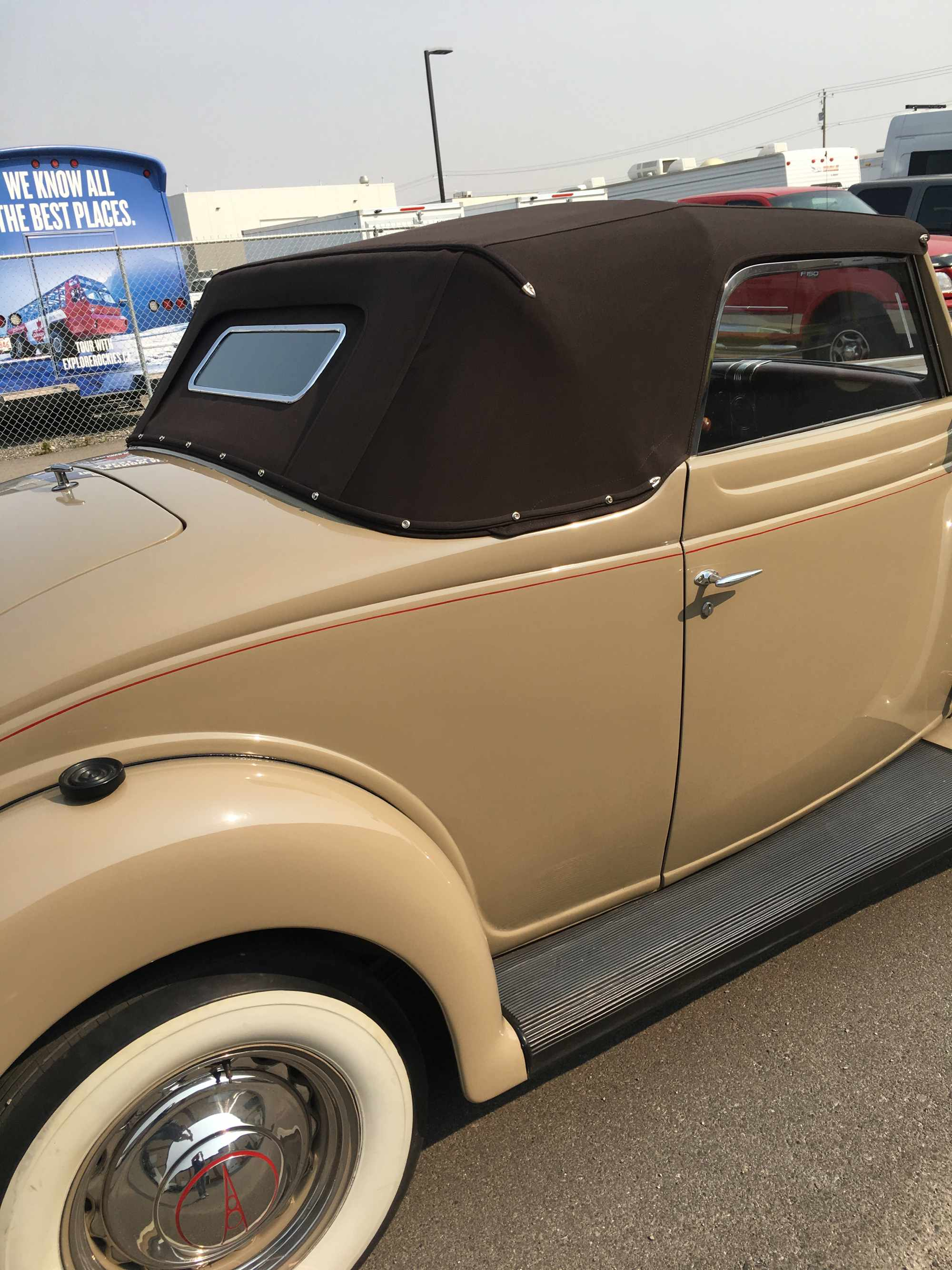exterior view of a classic car