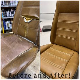 before and after seat repair