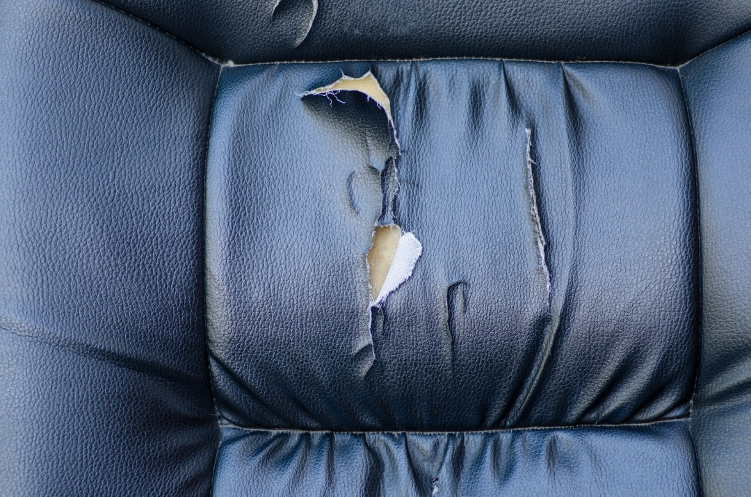 damaged car seat cover